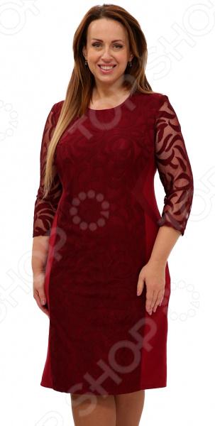 Платье Blagof «Драгоценная женщина». Цвет: бордовый