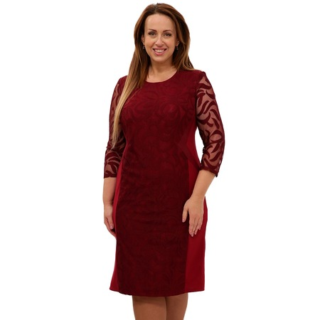 Купить Платье Blagof «Драгоценная женщина». Цвет: бордовый