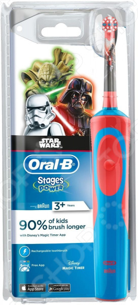 Щетка зубная электрическая Braun Oral-B Vitality D12.513K Star Wars Kids электрическая зубная щетка oral b pro 500 vitality star wars