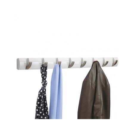 Купить Вешалка настенная горизонтальная с 8-ю крючками Umbra Flip