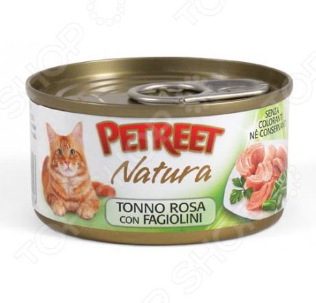 Корм консервированный для кошек Petreet Natura Tonno Rosa con Fagiolini