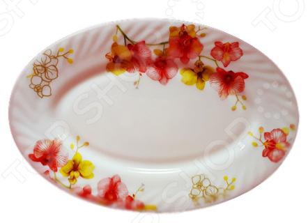 Блюдо сервировочное овальное МФК «Орхидеи»