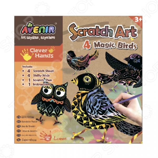 Набор для изготовления гравюр Avenir «Волшебные птички» Набор для изготовления гравюр Avenir «Волшебные птички» /