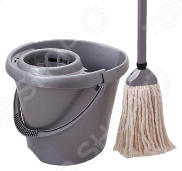 Комплект для уборки полов: швабра и ведро с отжимом SVIP SV3076 комплект для уборки полов швабра и ведро с отжимом rosenberg r 800009