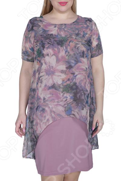 Платье ТРЕНД «Стихия женщины». Цвет: лиловый платье тренд стильный силуэт цвет бордовый