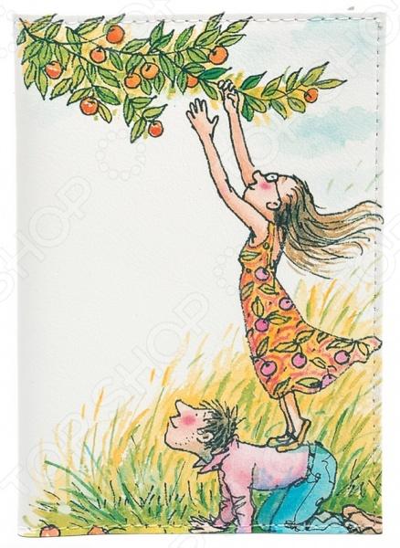 Обложка для автодокументов кожаная Mitya Veselkov «День сбора яблок» обложка для автодокументов кожаная mitya veselkov шб