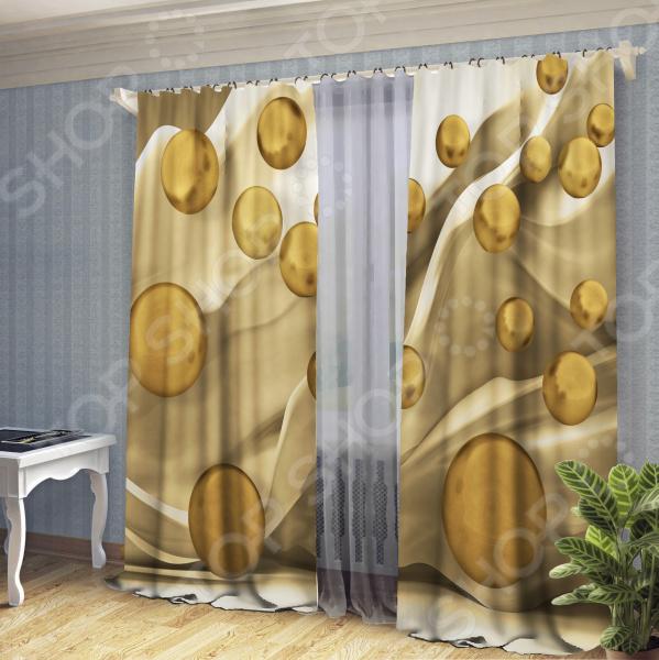 Комплект штор ТамиТекс «Золотые капли» текстиль для дома
