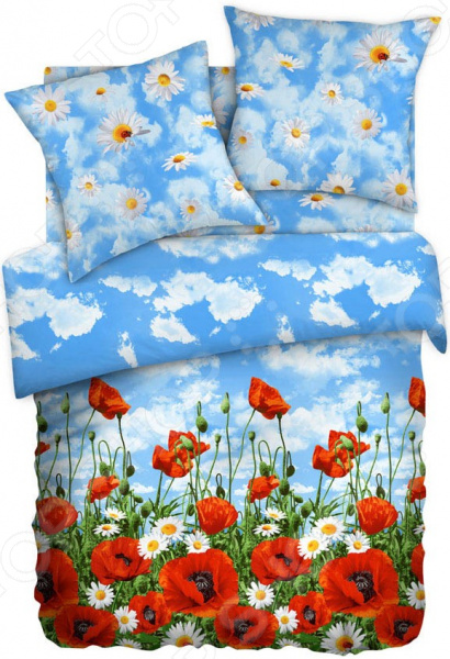 Комплект постельного белья Любимый дом «Солнечный мак» плетение из бумажных веревочек набор 3 солнечный мак