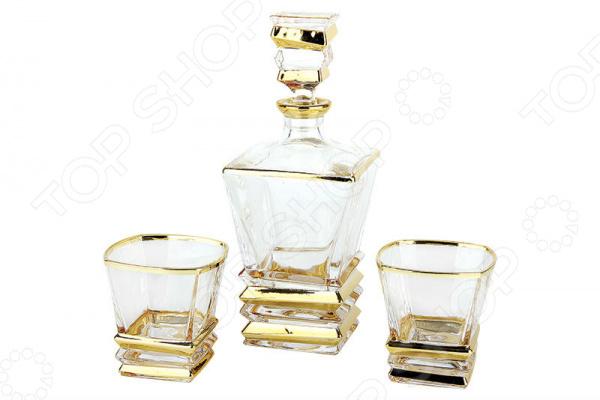 Набор подарочный для виски Коралл «Модерн голд» GM13681-3-GP Набор подарочный для виски Коралл «Модерн голд» GM13681-3-GP /