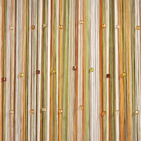 Купить Штора нитяная Алтекс «Стеклярус». Цвет: белый, зеленый, коричневый
