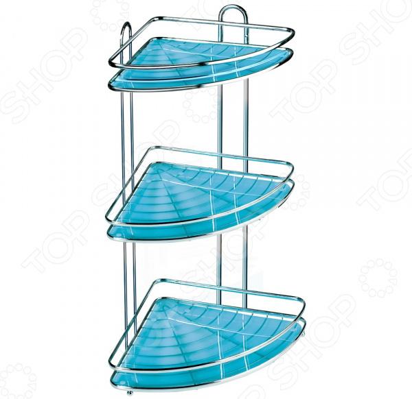 Полка для ванной угловая Tatkraft Kaiser 3-х ярусная крючок двойной tatkraft mega lock на вакуумном шурупе