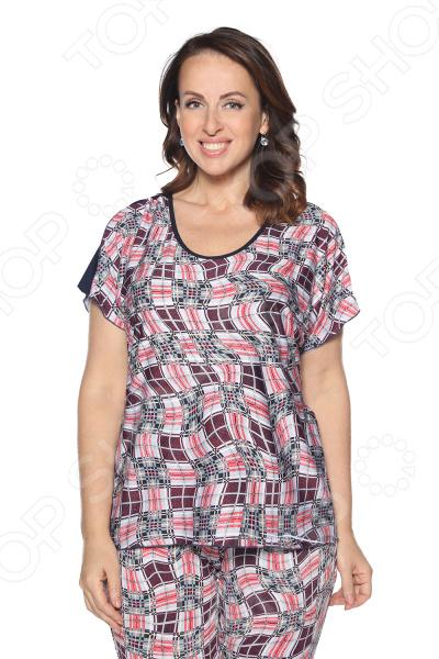 Блуза Лауме-Лайн «Упоительный момент». Цвет: бордовый блуза лауме стиль заветное признание цвет черный