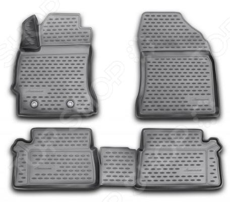 Комплект 3D ковриков в салон автомобиля Novline-Autofamily Toyota Auris 2013 комплект 3d ковриков в салон автомобиля novline autofamily toyota camry 2006 2011