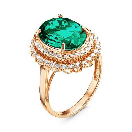 Купить Кольцо «Изумрудная нить» 100-1181