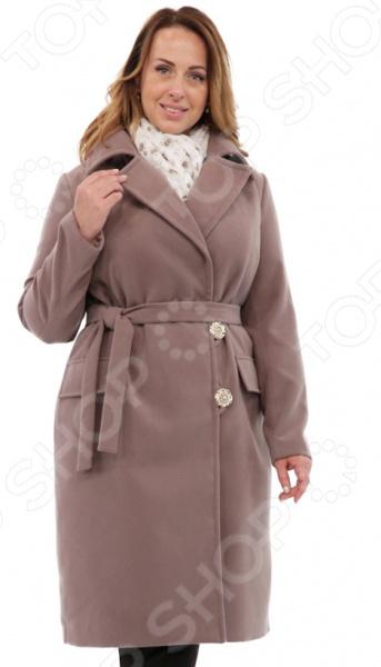 Пальто СВМ-ПРИНТ «Француженка». Цвет: коричневый
