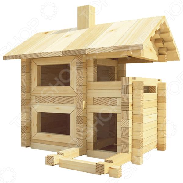 Конструктор деревянный Лесовичок «Разборный домик №2» конструктор лесовичок разборный домик 3 из 150 деталей les 003