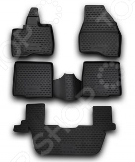 Комплект ковриков в салон автомобиля Novline-Autofamily Ford Explorer 2011-2014 комплект 3d ковриков в салон автомобиля novline autofamily ford tourneo custom 2013 2014