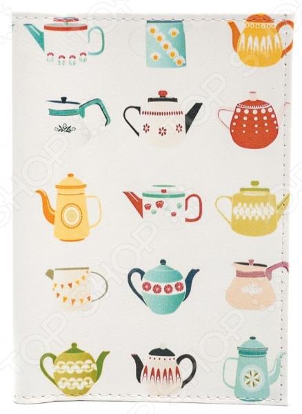 Обложка для паспорта кожаная Mitya Veselkov «Заварные чайники» чайники и кофейники на кухню basilur