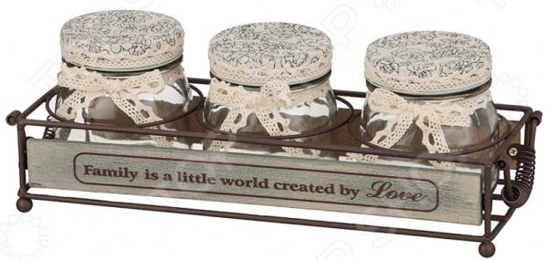 Набор банок для сыпучих продуктов Family gift planet набор банок для сыпучих продуктов прованс из 4 х шт 13231