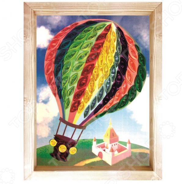 Набор для создания квиллинг-панно Азбука тойс Воздушный шар это отличный набор для детского творчества. Немного терпения и фантазии и яркая объемная поделка готова. Ею можно украсить детскую комнату или же преподнести в качестве подарка друзьям и близким. Подобные творческие занятия необычайно популярны как среди малышей, так и среди их родителей, способствуют развитию мелкой моторики рук, усидчивости и концентрации внимания.  Панно выполнено в виде картинки с большим воздушным шаром. Задача ребенка дополнительно украсить аппликацию скрученными полосочками бумаги. Следует помнить, что цвет полоски должен строго соответствовать цвету на картинке. Особенности и преимущества  Рекомендовано для детей в возрасте от 6-ти лет.  Яркие насыщенные цвета способствуют развитию у малышей цветового восприятия.  В состав набора входит цветная основа, полоски для квиллинга, клей, инструмент и шаблон для квиллинга, кисть и инструкция.