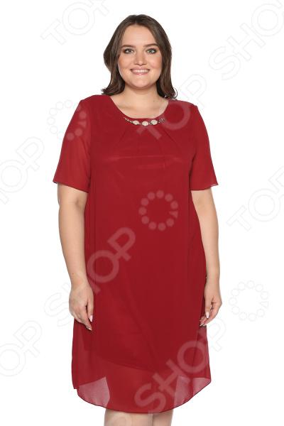 Платье Blagof Платье «Роскошная долина». Цвет: бордовый