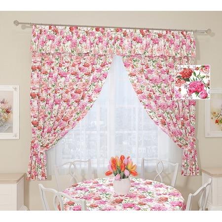 Купить Комплект штор Сирень «Розовые пионы»
