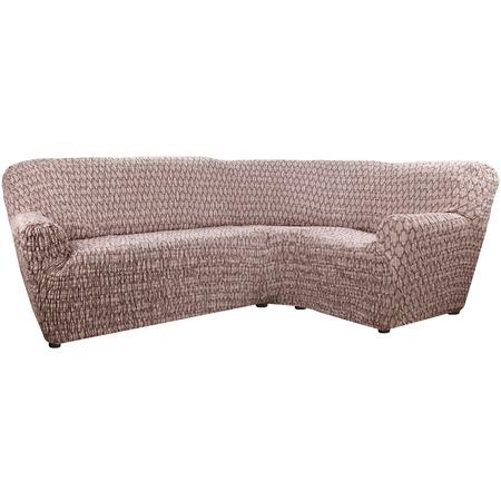 Купить Натяжной чехол на классический угловой диван Еврочехол «Сиена Ластра»
