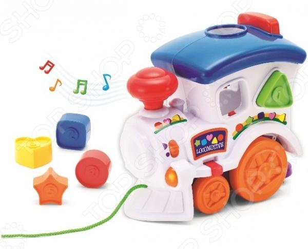 Игрушка-сортер музыкальная Keenway «Веселый паровозик с паззлами» no name веселый паровозик с ремнем