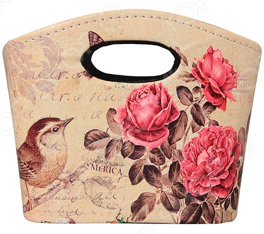 Zakazat.ru: Сумочка интерьерная для хранения EL Casa «Птичка с розами»