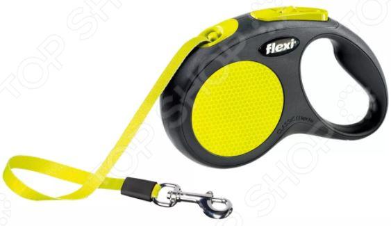 Поводок-рулетка Flexi Neon New Classic. Тип поводка: лента