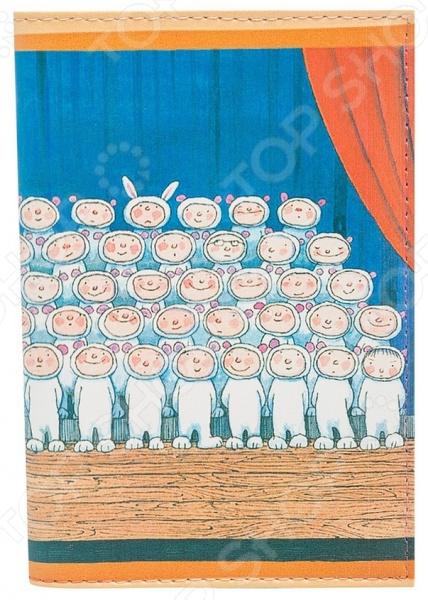Обложка для автодокументов кожаная Mitya Veselkov «Мальчики-зайчики» аксессуар