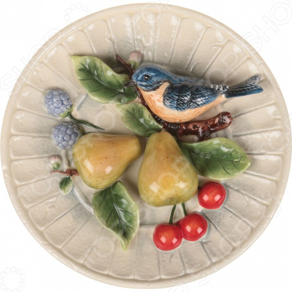 Тарелка декоративная Lefard «Птичка на ветке» 59-058 тарелка декоративная lefard 59 565