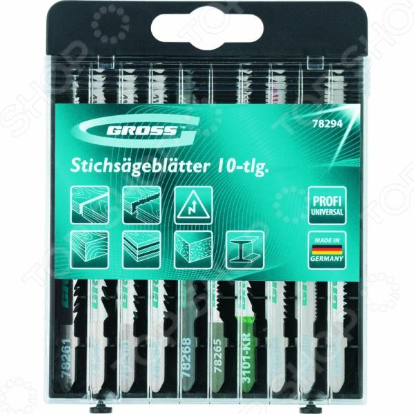 Пилки для электролобзика GROSS Profi 78294 пилки для лобзика по металлу для прямых пропилов bosch t118a 1 3 мм 5 шт