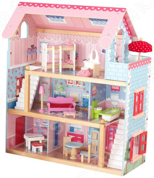 Кукольный дом с аксессуарами KidKraft «Открытый коттедж»