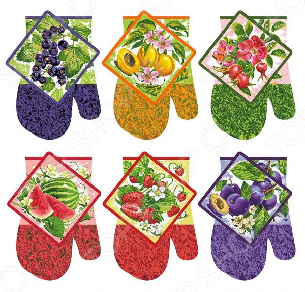 Набор кухонный: прихватка и рукавица Мультидом «Ягоды-фрукты» Z22-59. В ассортименте набор кухонный прихватка и рукавица мультидом светлая пасха z22 39 в ассортименте