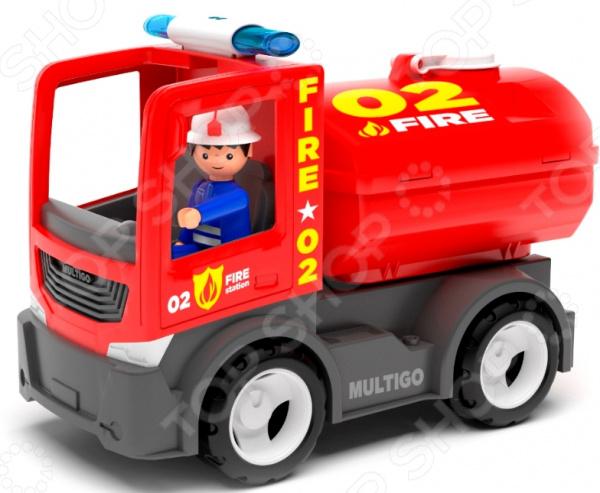 Машинка игровая EFKO «Пожарная машина с цистерной и водителем»