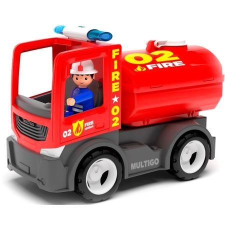 Купить Машинка игровая EFKO «Пожарная машина с цистерной и водителем»