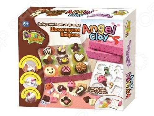 Набор для лепки Kinder Club «Шоколадная мастерская» всё для лепки angel clay масса для лепки мини ежик