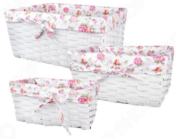 Набор плетеных корзин с вкладкой Miolla QL400436 цена 2017