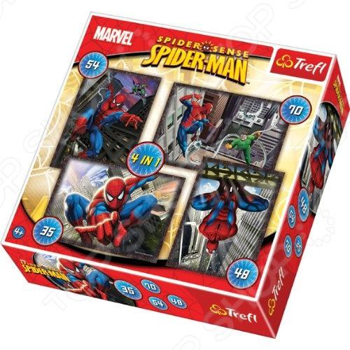 Набор пазлов 4 в 1 Trefl «Человек-паук» паук 4 1 на ниву