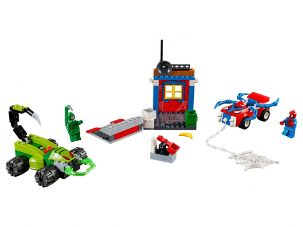 Конструктор игровой LEGO Juniors «Решающий бой Человека-паука против Скорпиона» лего чима жалящая машина скорпиона скорма