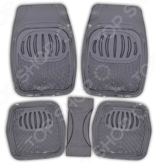Комплект из 5-ти ковриков в салон автомобиля SKYWAY Rain-1 «Ванночка»
