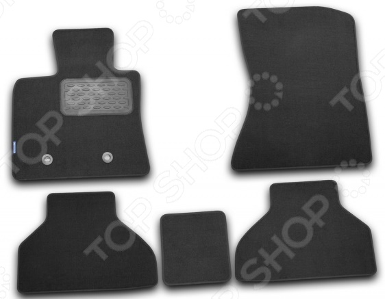 Комплект ковриков в салон автомобиля Novline-Autofamily BMW X5 2007-2012. Цвет: черный novline nlc 05 17 210 bmw x5 2007