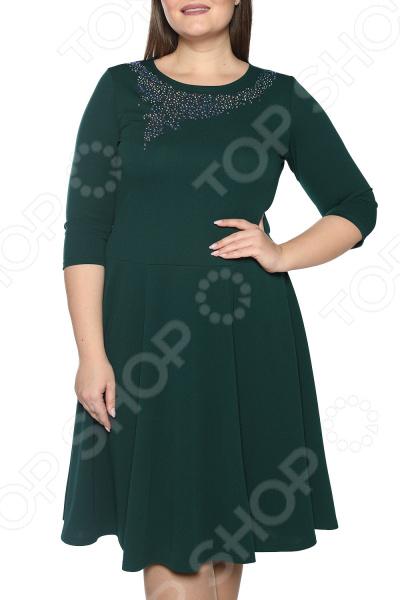 Платье Blagof «Сияние сердца». Цвет: изумрудный