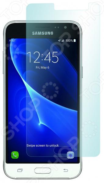 Стекло защитное skinBOX Samsung Galaxy J3 (2016) аксессуар чехол накладка samsung galaxy j3 2017 skinbox silicone chrome border 4people gold t s sgj32017 008