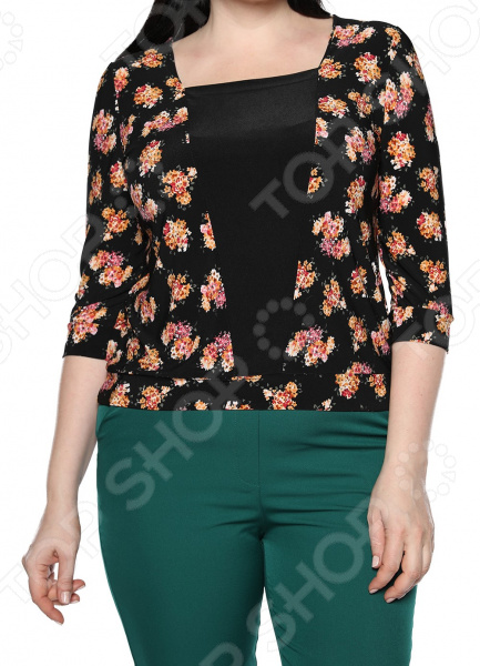 Туника Jenks «Добрый взгляд». Цвет: оранжевый блуза jenks счастливое настроение цвет фиолетовый