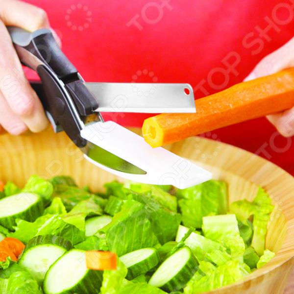 Умный нож для резки продуктов 2 в 1