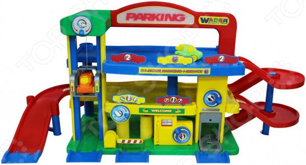 Набор игровой для мальчика Wader «Гараж премиум с автомобилями» полесье игровой набор гараж 1 премиум с автомобилями