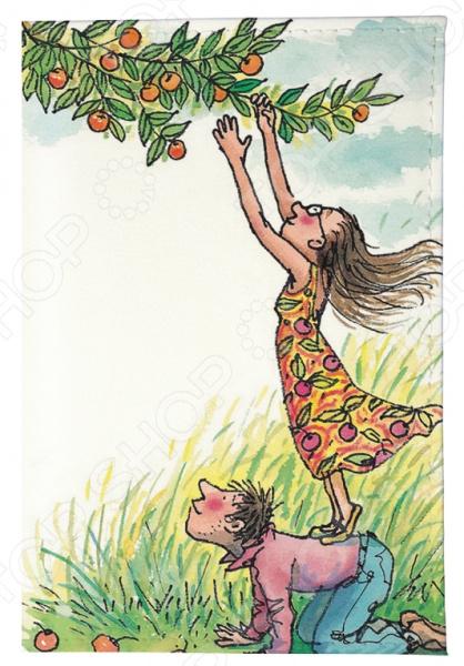 Обложка для паспорта Mitya Veselkov «День сбора яблок» обложка для автодокументов кожаная mitya veselkov день сбора яблок