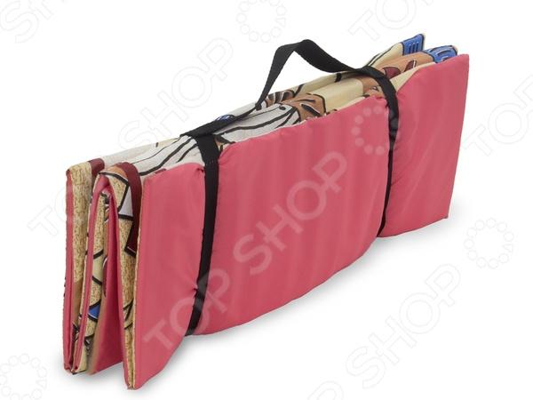 Коврик-сумка для спорта отлично подходит для занятий йогой, аэробикой и фитнесом, как дома, так и в спортивном зале. Этот коврик отличается от прорезиненных аналогов тем, что его можно использовать на пляже. Материал коврика хорошо изолирует холод от пола, при этом, не собирая на себе пыль и песок. После занятий, коврик легко и удобно складывается гармошкой и перетягивается ремнями, образуя сумку. В таком виде коврик-сумку очень легко и удобно переносить.